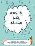 Ocean Life Math Activities