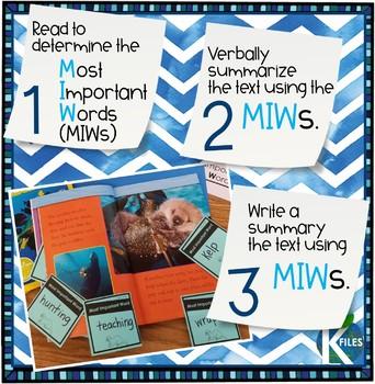 Ocean Life: Nonfiction Reading & Writing Unit (Determine Importance)