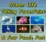 Ocean Life Talking PowerPoint & Four Puzzle Pack