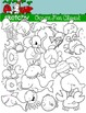 Ocean Life Themed Clipart - 300dpi, Color, Grayscale, Black Lined