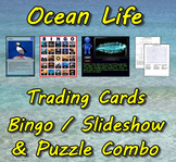 Ocean Life Trading Cards, Bingo/Slideshow and Puzzle Combo