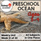 Ocean Preschool Homeschool - Week 13 Age 3-4 Complete Year