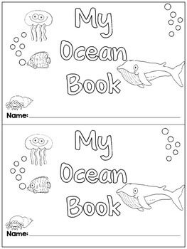 Kindergarten Ocean Life an Emergent Reader