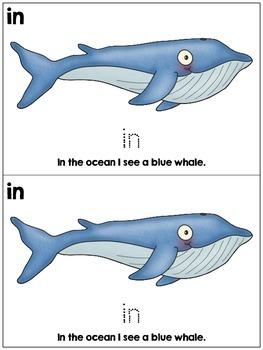 Kindergarten Ocean Life an Emergent Reader