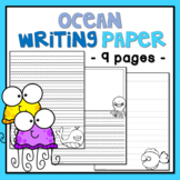 Ocean Animal Writing Pages - 6 Primary and 3 Secondary Lined Paper