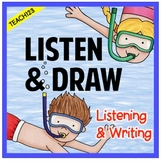 Listen and Draw Listening to Details Activities Summer