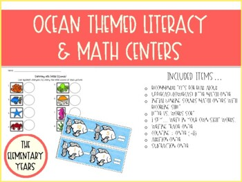 Ocean Literacy & Math Packet - Kindergarten