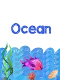 Preschool and Prek Ocean - Literacy and Math