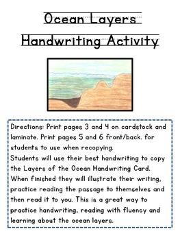 Ocean Layers Handwriting