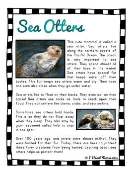 Ocean Mammals Close Reading Passages
