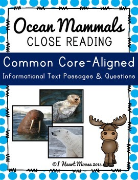 Ocean Mammals Close Reading Passages