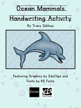 Ocean Mammals Handwriting