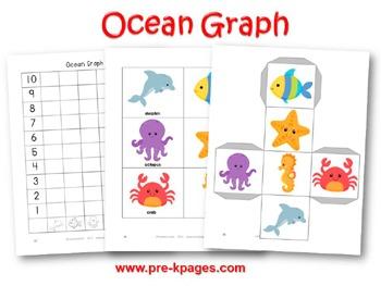 Ocean Math Activities For Pre K And Kindergarten By Prekpages Tpt
