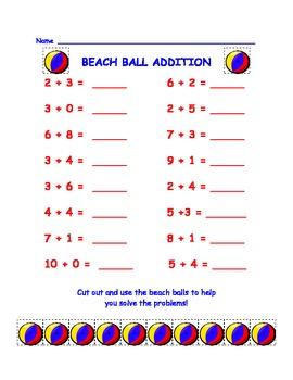 Ocean Math!  Addition, Subtraction, and Measurement