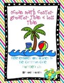Ocean Math Center Greater Than & Less Than {Aligned to Common Core}