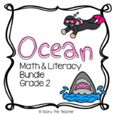 Ocean Math & Literacy Bundle | EASY PREP Common Core Activ