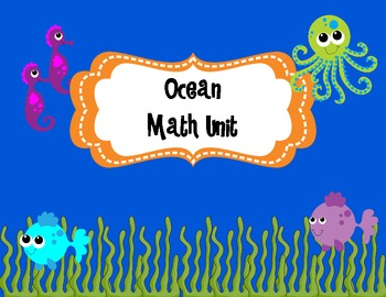 Ocean Math Mini Unit