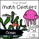 1st Grade Math Centers: Ocean