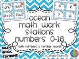 Ocean Math Work Station Numbers 0-16