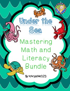 Ocean Math and Literacy Bundle, emergent readers