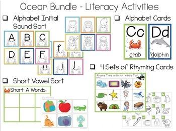 Ocean Math and Literacy Bundle