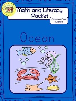 Ocean Worksheets Emergent Reader Task Cards