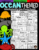 Ocean Math and Literacy Worksheets for Preschool