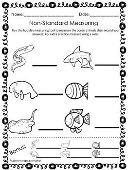 Ocean Measuring {Non-Standard Measurement} Freebie