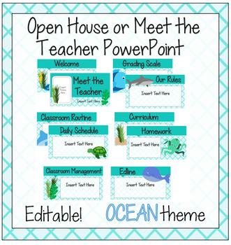 Ocean Meet the Teacher/Open House PowerPoint