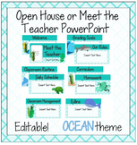 Ocean Meet the Teacher/Open House PowerPoint