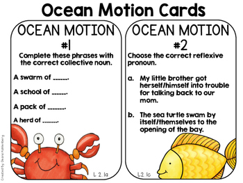 Ocean Motion! {A Language Activity for 2nd Graders}