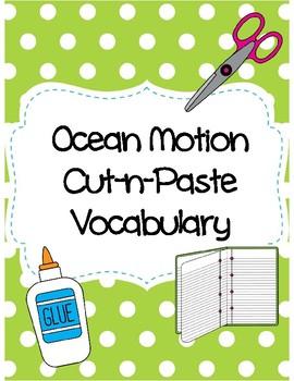 Ocean Motion Cut-n-Paste Vocabulary