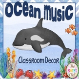 Ocean Music - Under the Sea Watercolor Decor Bundle