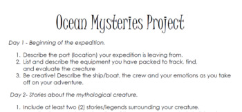 Ocean Mysteries Project
