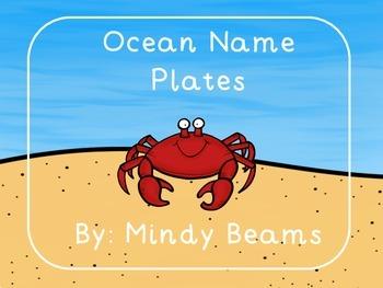 Ocean Name Plates
