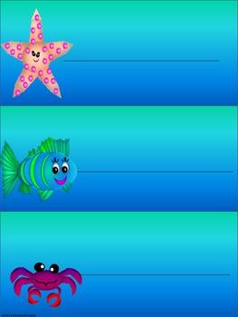 Ocean Name Plates & Tags