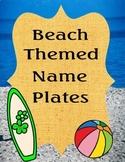 Desk Name Tags Ocean/Beach Themed