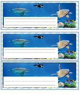 Ocean Nameplates/ Labels 3