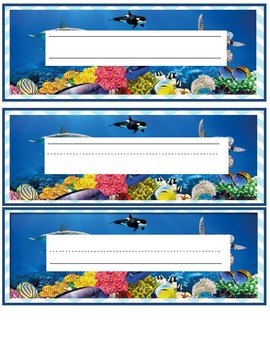 Ocean Nameplates/ Labels