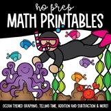 Ocean No Prep Math Printables