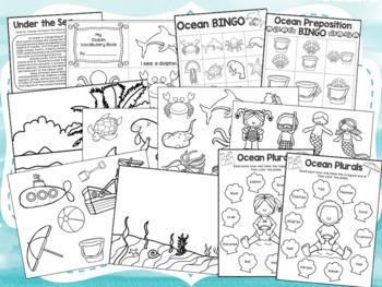 Ocean {No Prep} Speech & Language Unit