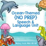 Ocean No Prep Speech & Language Unit