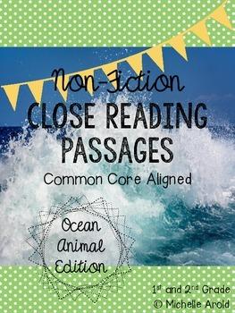 Ocean Non-Fiction Close Reading Passages (FREEBIE)