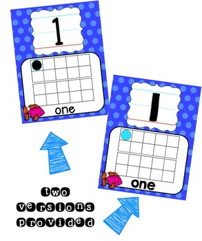 Ocean Number Posters 0-20 - Polka Dot