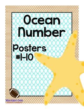 Ocean Number Posters #1-10