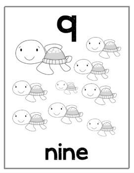 Ocean Number Posters (1-20)