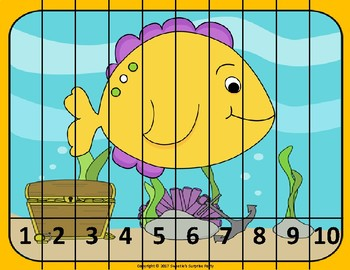 Number Puzzles - Ocean Theme