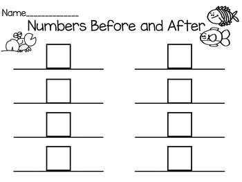 Ocean Math Numbers Before and After