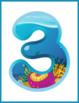 Ocean Numbers Flash Cards; Kindergarten; Preschool; Homeschool; Math; Printables