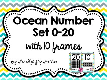 Number Posters 0-20 with 10 frames, Ocean Theme